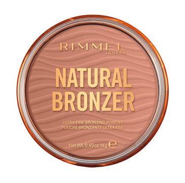 Rimmel Natural Bronzer bronzer do twarzy z rozświetlającymi drobinkami 001 Sunlight (14 g)