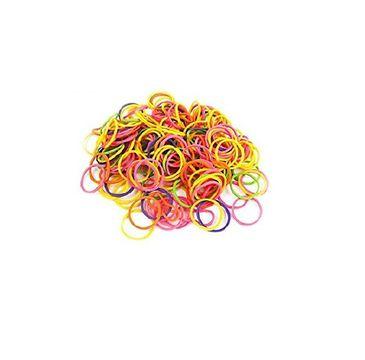 Ronney Elastic Band gumki silikonowe do włosów Kolorowe RA 00338 (100 g)