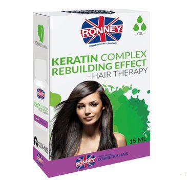 Ronney Keratin Complex Rebuilding Effect odbudowujący olejek do włosów z kompleksem keratynowym 15ml