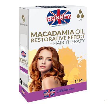 Ronney Macadamia Oil Restorative Effect Hair Therapy wzmacniający olejek do włosów suchych i osłabionych 15ml
