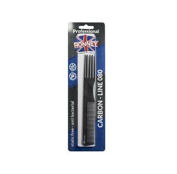 Ronney Professional Carbon Comb Line 080 grzebień do włosów