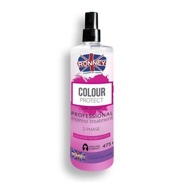 Ronney Professional Color Protect 2-Phase Cloured&Highlighted Hair dwufazowa mgiełka do włosów farbowanych (475 ml)