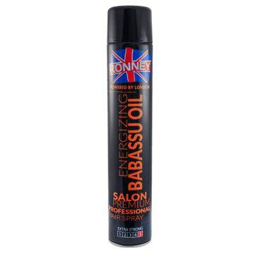 Ronney Professional Hair Spray Energizing Babassu Oil utrwalający lakier do włosów 750ml