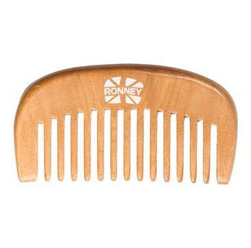Ronney Professional Wooden Comb profesjonalny drewniany grzebień do włosów 96.5x52mm RA 00119 (1 szt.)