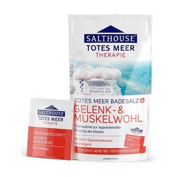 Salthouse Sól do kąpieli z morza martwego rozgrzewająco-relaksująca stawy i mięśnie 400g + 20ml