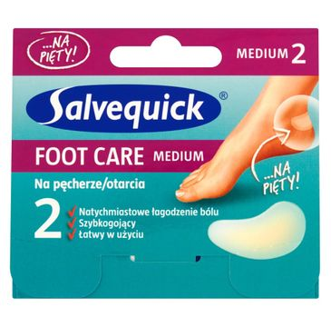 Salvequick Foot Care Medium plastry na pęcherze i otarcia 1 op.- 2 szt.