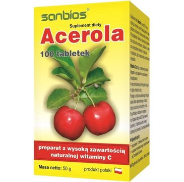 Sanbios Acerola suplement diety 100 tabletek
