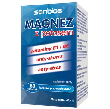Sanbios Magnez z Potasem suplement diety 60 tabletek
