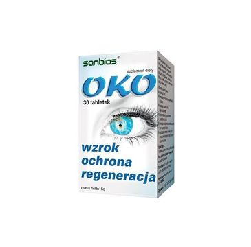 Sanbios Oko wzrok ochrona regeneracja suplement diety 30 tabletek