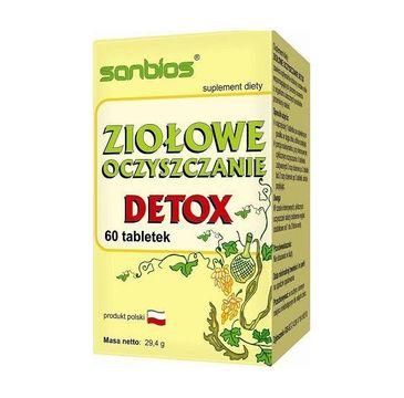 Sanbios Ziołowe Oczyszczenie Detox suplement diety 60 tabletek