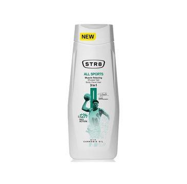 STR8 – All Sports Relaksujący żel pod prysznic 3w1 (400 ml)