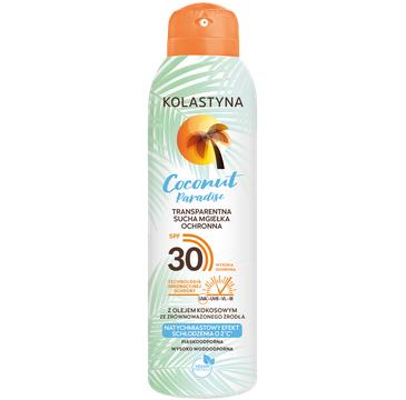 Kolastyna Transparentna sucha mgiełka ochronna do ciała Coconut Paradise SPF30 (150 ml)