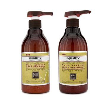 Saryna Key Pure African zestaw Shea Shampoo szampon do włosów 500ml + Pure African Shea Conditioner odżywka do włosów 500ml