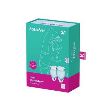 Satisfyer Feel Confident Menstrual Cup zestaw kubeczków menstruacyjnych 15ml + 20ml Light Blue