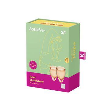 Satisfyer Feel Confident Menstrual Cup zestaw kubeczków menstruacyjnych 15ml + 20ml Orange