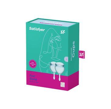 Satisfyer Feel Good Menstrual Cup zestaw kubeczków menstruacyjnych 15ml + 20ml Light Blue