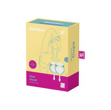 Satisfyer Feel Good Menstrual Cup zestaw kubeczków menstruacyjnych 15ml + 20ml Light Green