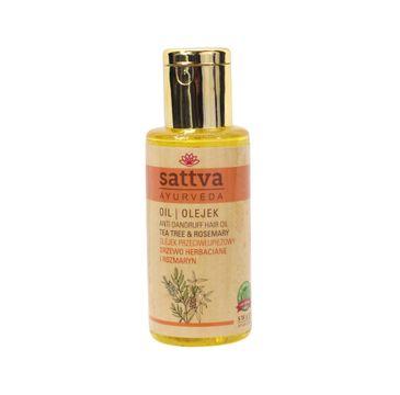 Sattva – Anti Dandruff Hair Oil olejek przeciwłupieżowy Drzewo Herbaciane & Rozmaryn (100 ml)