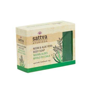 Sattva – Body Soap indyjskie mydło glicerynowe Neem & Aloe Vera (125 g)