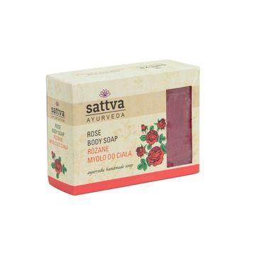 Sattva – Body Soap indyjskie mydło glicerynowe Rose (125 g)