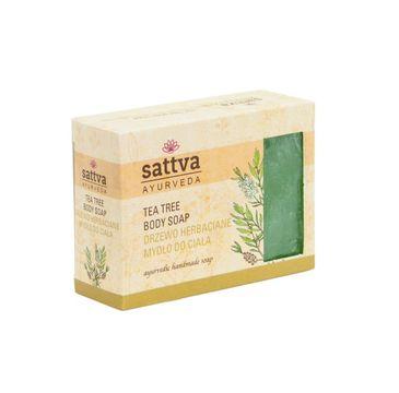 Sattva – Body Soap indyjskie mydło glicerynowe Tea Tree (125 g)