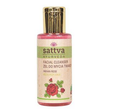 Sattva Facial Cleanser 偶el do mycia twarzy Indian Rose (100 ml)