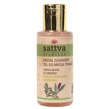 Sattva Facial Cleanser 偶el do mycia twarzy Sandalwood & Turmeric (100 ml)