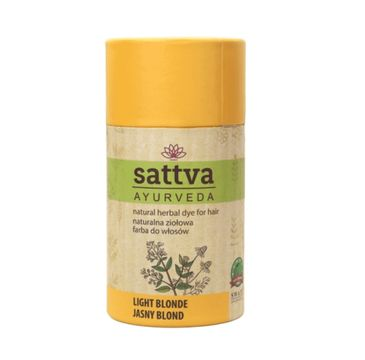 Sattva – Natural Herbal Dye for Hair naturalna ziołowa farba do włosów Light Blonde (150 g0