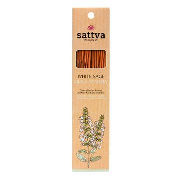 Sattva Natural Indian Incense naturalne indyjskie kadzidełko Biała Szałwia (15 szt.)