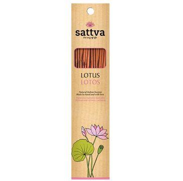 Sattva Natural Indian Incense naturalne indyjskie kadzidełko Lotos (15 szt.)