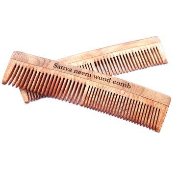 Sattva – Neem Wood Comb grzebień z drzewa Neem 19 cm (1 szt.)