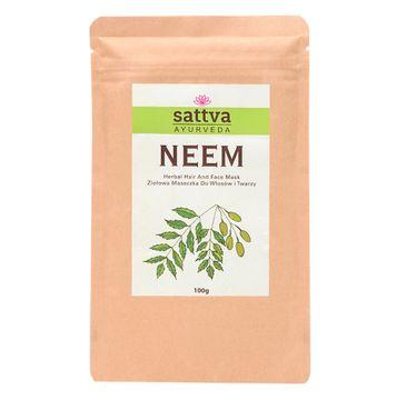 Sattva – Neem ziołowa maseczka do włosów i twarzy (100 g)