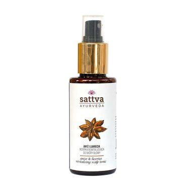 Sattva – Rrewitalizująca wcierka do skóry głowy Anise & Licorice (100 ml)