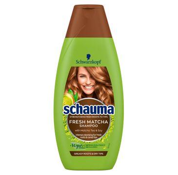 Schauma Fresh Matcha szampon do włosów przetłuszczających się i suchych (400 ml)