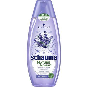 Schauma Nature Moments szampon do włosów cienkich lawenda zioła 400 ml