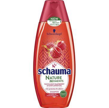 Schauma Nature Moments szampon do włosów farbowanych malina olej słonecznikowy 400 ml