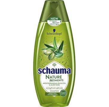 Schauma Nature Moments szampon do włosów zniszczonych oliwa aloes 400 ml