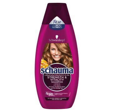 Schauma Strength & Vitality Szampon do włosów cienkich i łamliwych 400 ml