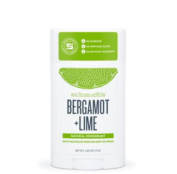 Schmidt's Natural Deodorant naturalny - dezodorant w sztyfcie Bergamotka & Limonka (58 ml)