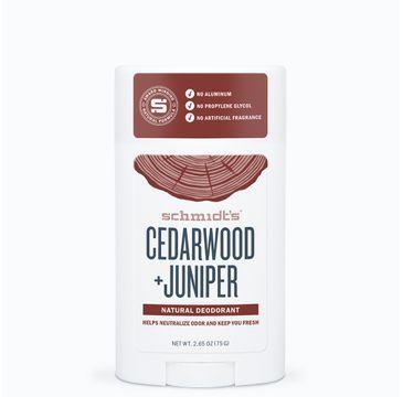 Schmidt's Natural Deodorant naturalny dezodorant w sztyfcie Drewno Cedrowe i Jałowiec 58 ml
