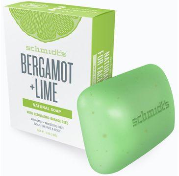 Schmidt's Natural Soap naturalne mydło w kostce Bergamotka i Limonka 142 g