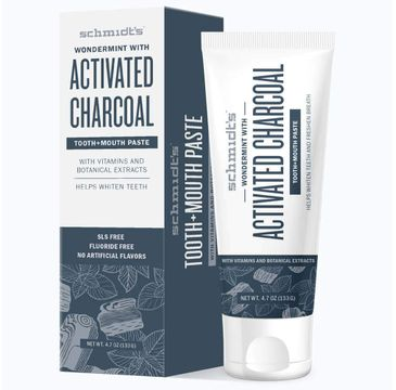 Schmidt's Tooth & Mouth Paste pasta do zębów Activated Charcoal 133 g