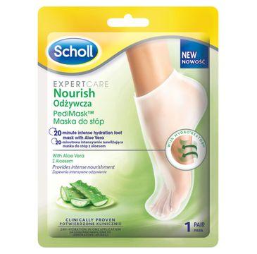 Scholl Expert Care Nourish Pedi Mask odżywcza maska do stóp z aloesem (1 para)