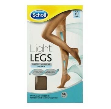 Scholl Light Legs rajstopy uciskowe 20 DEN cieliste (S/M)