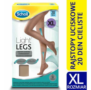 Scholl Light Legs rajstopy uciskowe 20 DEN cieliste  (XL)