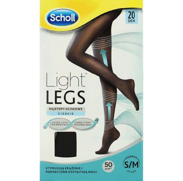 Scholl Light Legs rajstopy uciskowe 20 DEN czarne (S/M)