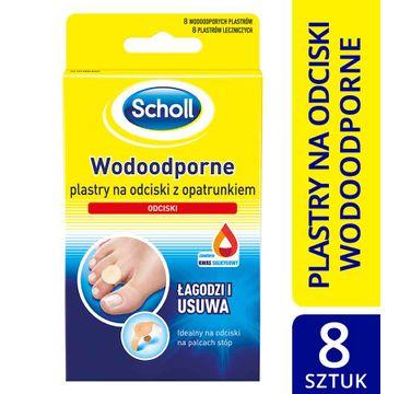 Scholl Wodoodporne plastry na odciski z opatrunkiem 8 szt.