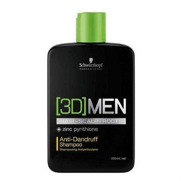 Schwarzkopf 3D Men Anti Dandruff Shampoo szampon przeciwłupieżowy 250ml
