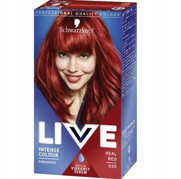 Schwarzkopf Live Intense Colour farba do włosów 035 Real Red (1 op.)