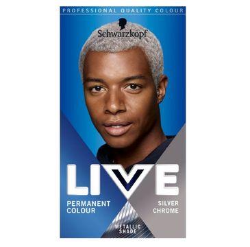 Schwarzkopf Live Men farba do włosów dla mężczyzn U71 Silver Chrom (1 op.)